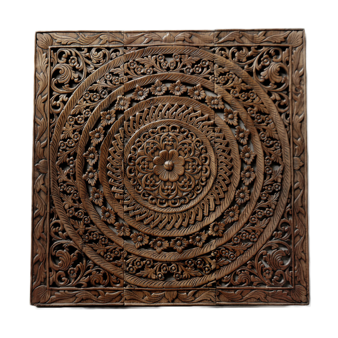 Moroccan Decent Wood Carving Wall Art Hanging Siam Sawadee