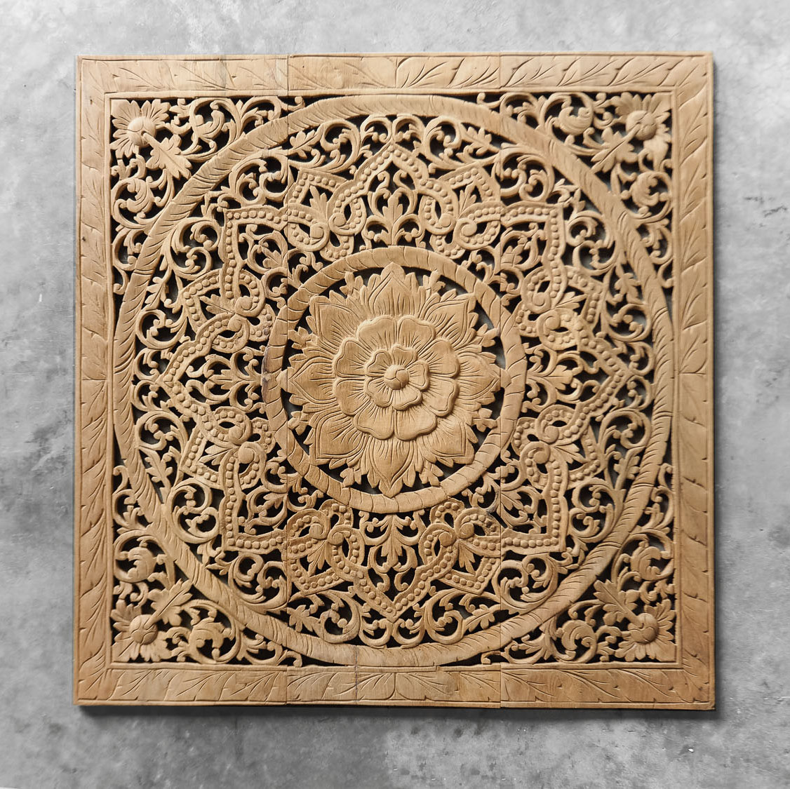 Buy antique lotus wood carving wall art hanging online